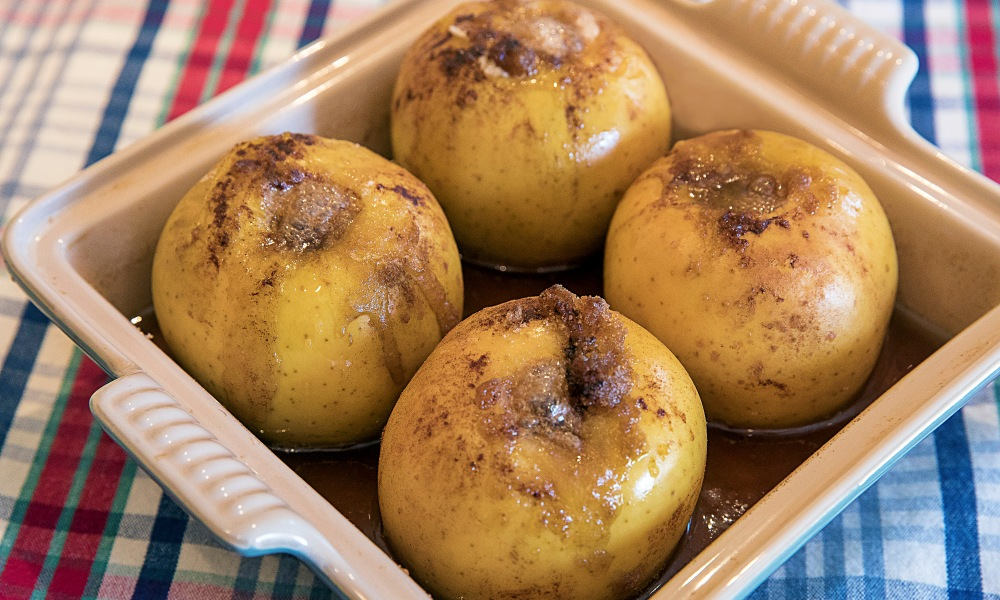 """Do you remember baked apples as a child? I do. My Mother would bake them as a """"sensible"""" dessert in the fall and winter months. And they were always served warm with a scoop of vanilla ice cream."""