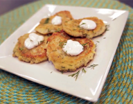 Garlic Dill Potato Pancakes