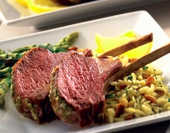 Grilled Rack of Lamb with Fresh Lemon and Herbs