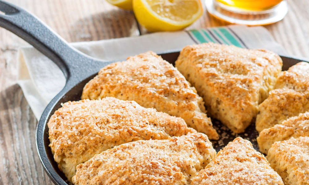 These Lemon-Poppy Seed Sones are perfect on a spring morning or especially fun if you're creating your own Royal Wedding watch party.