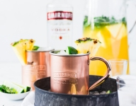 Pineapple Cilantro Moscow Mule Punch