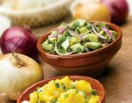 Two Salsa Recipes: Avocado Red Onion and Mango Onion