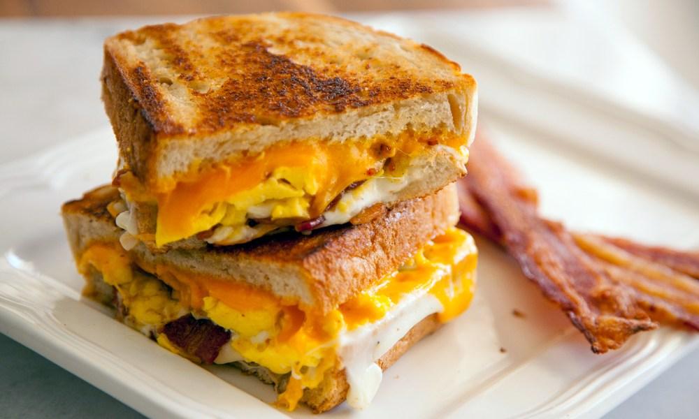 Ilustrasi sandwich telur