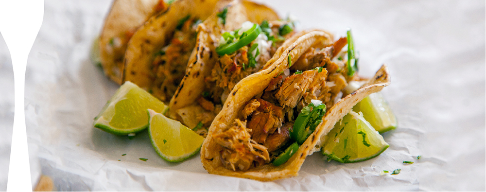 Have leftover pork that you don't know what to do with? Tacos are a great option! Simply lay an even layer of pork on a baking sheet, drizzle with olive oil and broil for a few minutes until perfectly golden. It's so easy and delicious, it's a stress-free weeknight meal.