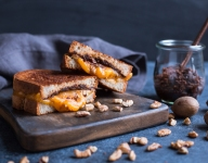 Grilled Cheese with Pecan and Sun-dried Tomato Spread