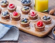 Mini Pecan Lemon Berry Tarts