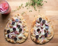 Pecan, Grape, and Pickled Onion Flatbread