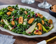 Pecan, Pear, Pomegranate and Kale Salad