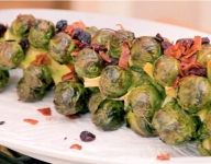 Bacon and Cranberry Roasted Brussels Sprouts Recipe