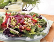 Sweet Veggie Onion Salad with Margarita Dressing