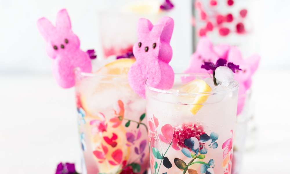 The Blushing Bunny is a smooth mix of raspberry vodka, raspberry lemonade, sparkling water and pink bunny-shaped marshmallows. They're cute, but do pack a punch so remember to enjoy responsibly!
