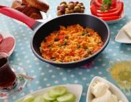 Turkish Breakfast Eggs-Menemen