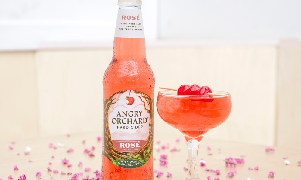 At The Food Channel, we've noticed a big uptick in the popularity of rosé, as a stand-alone beverage and especially in use as a mixer. For Mother's Day,Angry Orchard mixologist partner Jeremy Oertel has crafted this delightfulRosé Cherry Blossom cocktail that's perfect for sipping as you celebrate mom.