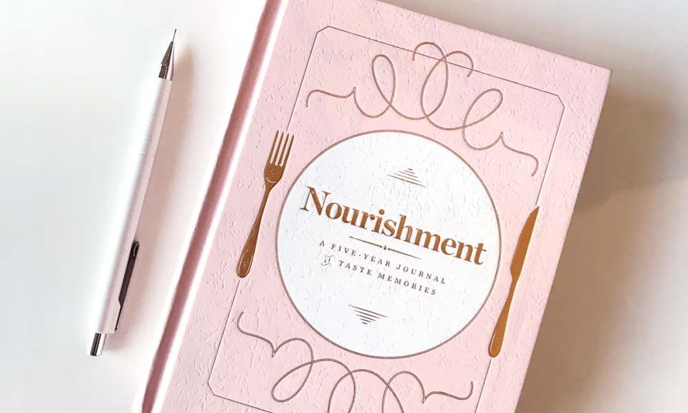 Flowers, candy and cards are definitely popular ways to celebrate mom. We recently received a copy of a unique gift - a food journal called Nourishment. A food journal on its own isn't new, but this version is designed for mom to document a five-year culinary journal, but it's not just a food diary.