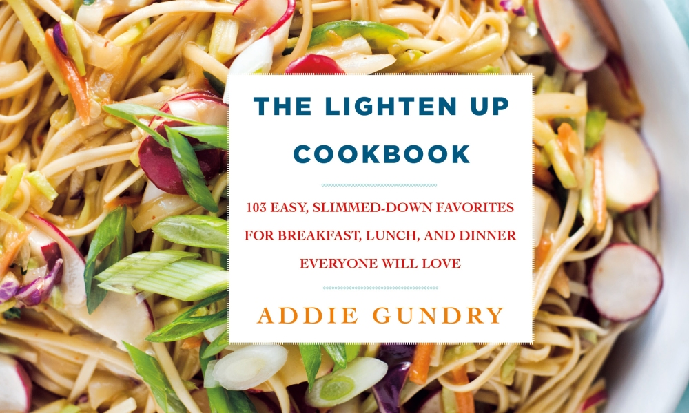 One trend we've been watching for some time is chefs or food bloggers who take traditional or classic dishes and lighten them up to create something with more contemporary appeal. Such is the case with The Lighten Up Cookbook, by author Addie Gundry, who was also a winner of the TV Food Network's Cutthroat Kitchen in 2015. She obviously doesn't shy away from a challenge and in her new book she gives some classic American dishes a makeover.