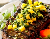 Brazilian Mango Chimichurri Steak