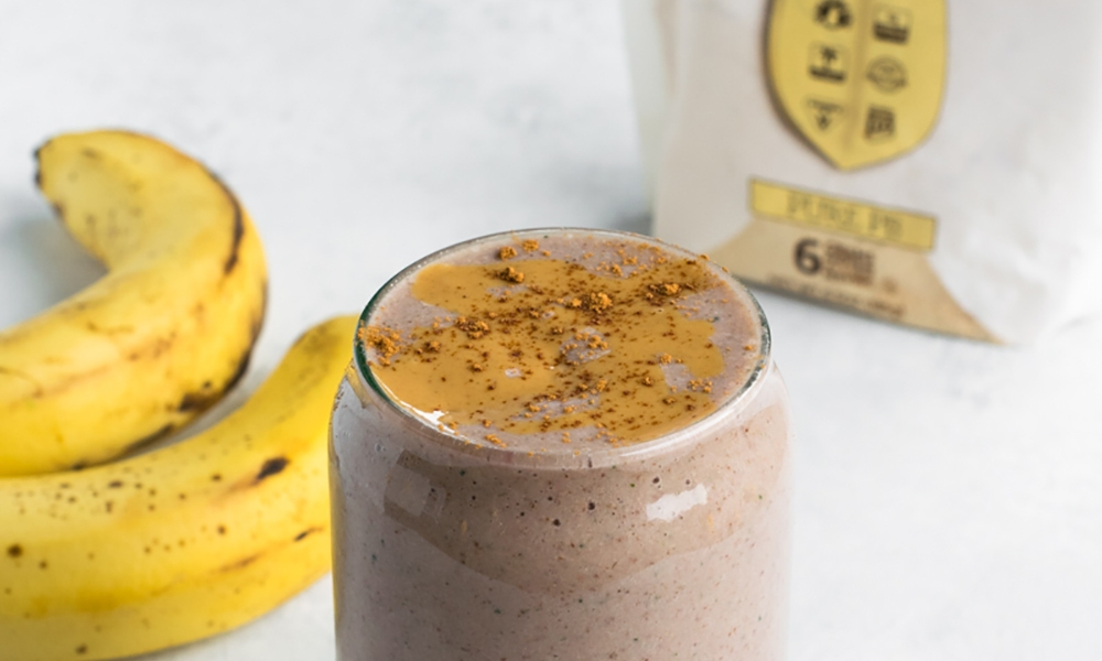 This power smoothie is packed full of protein and nutritious ingredients to give you a jumpstart to your morning, or a pick-me-up in the afternoon!