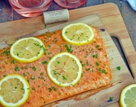 Spicy Cedar Plank Salmon