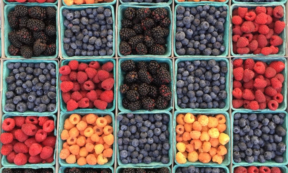 July is known as National Berry Month because the growing season for berries is the strongest in these later months of summer. Almost all berries are packed with nutritious components, including Vitamin C, fiber, folic acid, and phytochemicals, all important parts of one's daily diet.