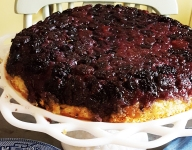 Summer Berry Upside-Down Cake