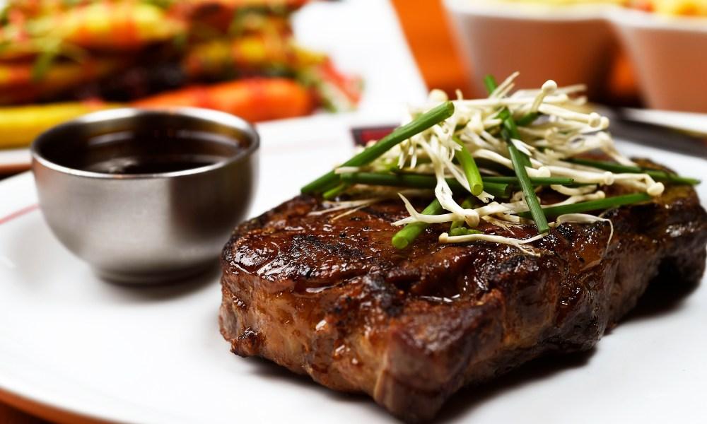 Michael Jordan's favorite Delmonico Steak from his namesake restaurant. Boneless rib bye, dry aged 45 days, then sauced with a ginger balsamic vinegar.