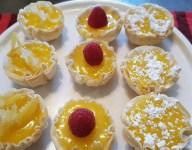 Petite Lemon Curd Tarts in Mini Fillo Cups