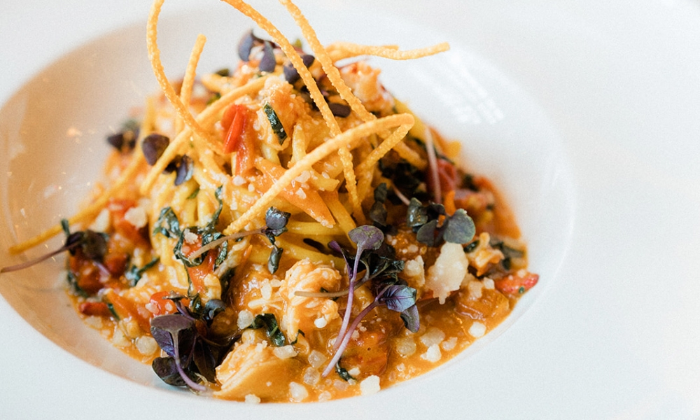 In honor of National Lobster Day, coming later in September,Adam Sobel, Executive Chef of Cal Mare in Los Angeles, is sharing a delicious, and unique, salute to this beloved shellfish with his recipe for Saffron Lobster Spaghetti.