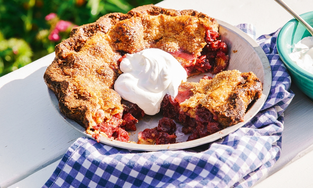 A staple in this part of the country (and in Traverse City, Michigan), cherry pie makes for a delicious dessert, afternoon pick-me-up, and even comforting breakfast treat.