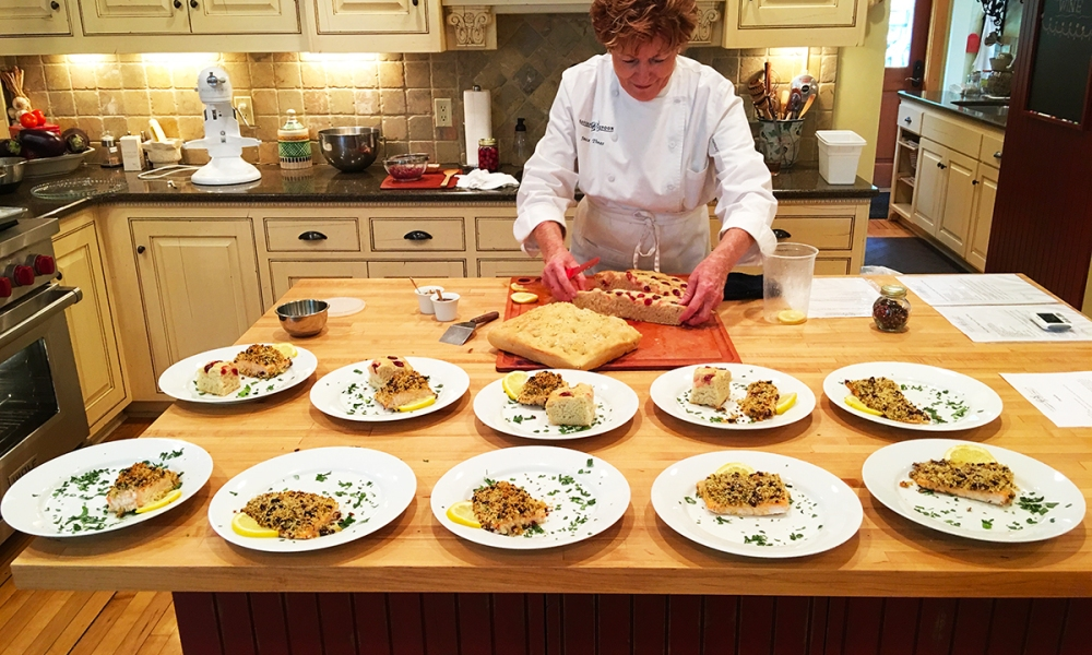 This recipe for Focaccia is from Janice W. Thomas of the Savory Spoon Cooking School in Door County, Wisconsin.