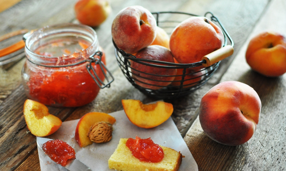 Making fresh peach preserves is not as hard as you think. And they're delightful, served on a variety of fresh breads and biscuits.