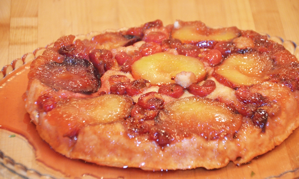 This recipe for Door County Cherry and Plum Tatin is from Janice W. Thomas of the Savory Spoon Cooking School in Door County, Wisconsin.
