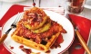 This recipe for Fried Chicken, Green Tomato, and Waffles with Sriracha Syrup is a Southern Living Test Kitchen favorite.