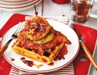 Fried Chicken, Green Tomato and Waffles