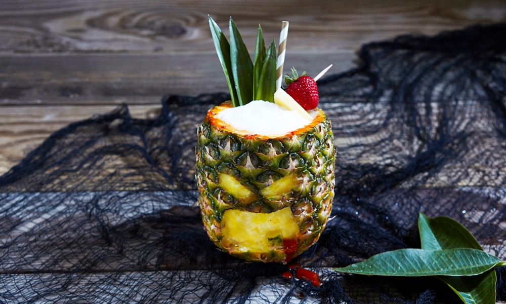 A delicious pineapple concoction for your Halloween celebration. Another recipe from the animated film, The Legend of Hallowaiian, voiced by Mark Hamill of Star Wars fame, Stranger Things lead Noah Schnapp and the legendary Vanessa Williams.