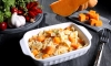 The news cycle may be filled with pumpkin spice, but this recipe from Pasta Fits (the National Pasta Association) is an innovative way to showcase pumpkin as a pasta sauce—and make good use of those turkey leftovers that are sure to come.