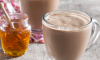 This scrumptious Peanut Butter Hot Chocolate with Honey drink is so thick and good, you can practically eat it with a spoon.