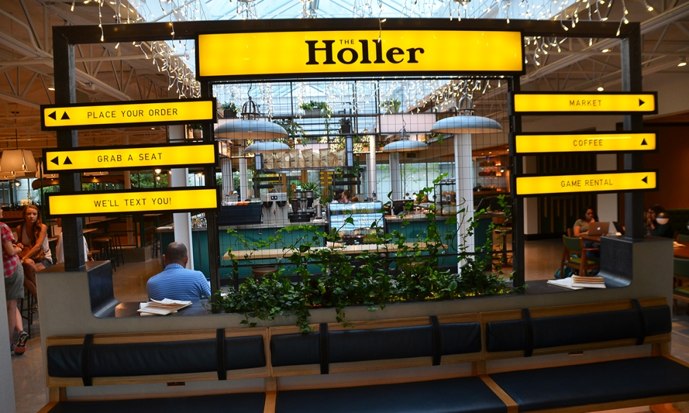 The Hollar, one of the many businesses and community gathering spaces in the 8th Street Market.