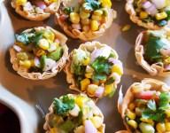 Roasted Corn and Avocado Salsa Mini Bites