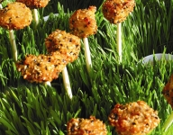 Sesame Chicken Lollipops With Miso Dipping Sauce