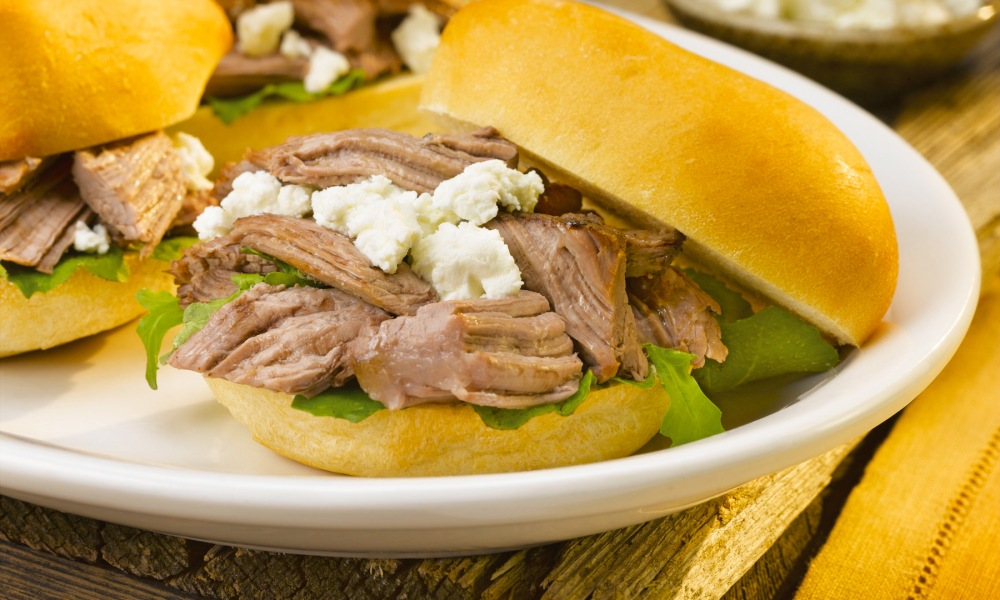 These Braised Lamb and Goat Cheese Sliders are perfect for get togethers with family and friends to watch sports, binge-watch movies and television or game night. They're also perfect for tailgating!