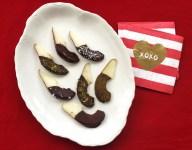 Dark Chocolate Dipped Pears