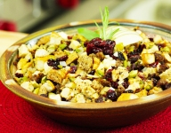 Sourdough, Apple and Cranberry Stuffing with Sausage
