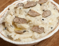 Black Truffle Garlic Mashed Potatoes