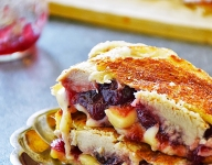Turkey Grilled Cheese With Cranberry Brie