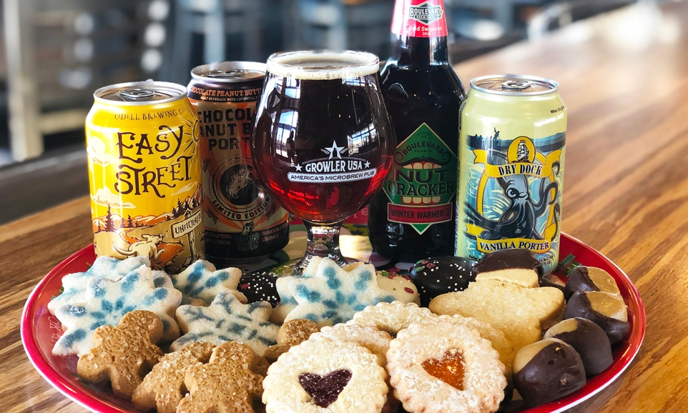 In concert with our 13 Days of Christmas Cookies, I thought it would be fun to share some beverage parings beyond the expected milk! Our friends at Growler USA, a microbrew pub dedicated to serving only American-made brews, has put together craft beers that pair perfectly with some of the most beloved Christmas cookies!