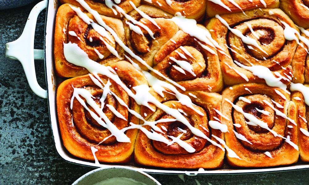 My grandma was one of the first people, other than my mom, I spent a lot of time with in the kitchen. She was such a great cook and it seemed like she was always making something delicious. Every once in awhile she would make these cinnamon rolls and her house would smell like heaven.
