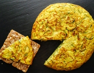 Spanish Omelette With Potatoes, Onions and  Zucchini