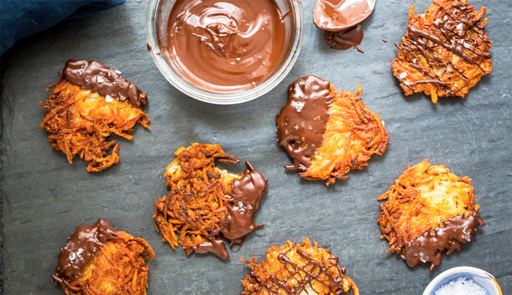 Idaho potatoes pair with dark chocolate to create a delicious dessert, perfect for Hanukkah.