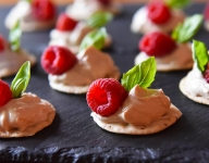 Raspberry Basil Canapés