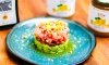 This recipe for Tuna Crudo with Preserved Lemon and Avocado Basil Mousse uses both the Orange Marmalade and Bono Extra Virgin Olive Oil products.